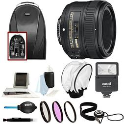 Nikon AF-S NIKKOR 50mm f/1.8G Lens + 58mm Filters + Backpack