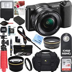 Sony Alpha a5100 HD 1080p Mirrorless Digital Camera Black +