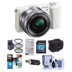 Alpha A5100 Mirrorless Digital Camera with 16-50mm Lens, Whi