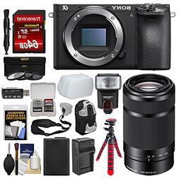 Sony Alpha A6500 4K Wi-Fi Digital Camera Body with 55-210mm