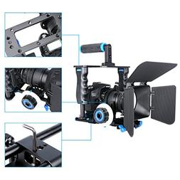 HaoFst Aluminum Alloy Camera Movie Video Cage Kit Film Makin