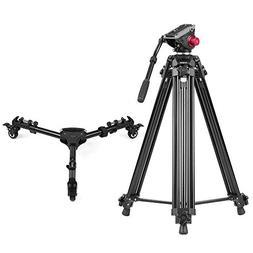 Andoer Professional Aluminum Alloy Camera Video Tripod Panor
