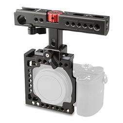 CAMVATE Aluminum Camera Cage for Sony A6500,A6000,A6300,ILCE