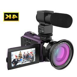Andoer 4K 1080P 48MP WiFi Digital Video Camera Camcorder DV
