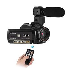 Camcorder, 4K Digital Video Camera,Andoer UHD 24MP WiFi Came