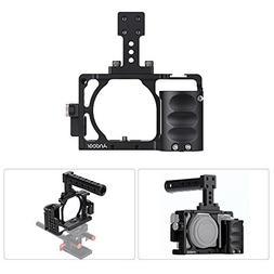 Andoer Aluminum Alloy Video Camera Cage + Hand Grip + Top Ha