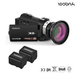 Andoer UHD 4K 1080P 48MP WiFi Digital Video Camera Camcorder