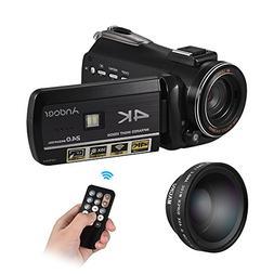 Andoer 4K UHD 24MP Digital Video Camera Camcorder DV Recorde
