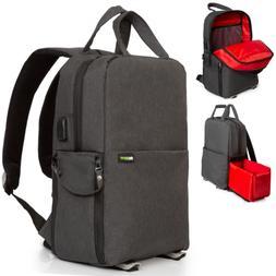 DSLR Camera Bag , Photo/Video Backpack for Mirrorless/DSLR C