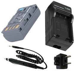 Battery + Charger for JVC GR-D750U, GR-D770U, GR-D850U, GR-D