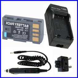 Battery + Charger for JVC GR-D750U, GR-D770U, GR-D850U <font