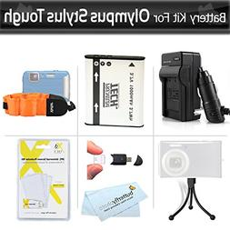 Battery And Charger Kit For Olympus Stylus Tough TG-610 TG-8