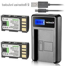 Kastar Battery  & LCD Slim USB Charger for JVC BN-VF808, BN-