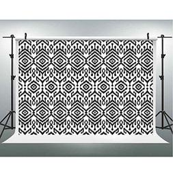 Black and White Backdrops Photography Props Monochrome Ikat