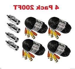 Wennow  New 200ft BNC CCTV Video Power Cable CCD Security Ca