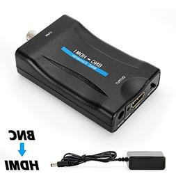 MakeTheOne BNC Female to HDMI Video Converter Adapter Box fo