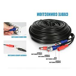 H.View 40M BNC Video Power Supply Cable,Security Camera Cabl