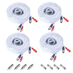 Annke 4 Pack 60 Feet BNC Video Power Cable Security Camera W