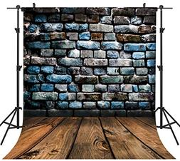 Ouyida 8x8ft Brick Wall Wood floor Pictorial cloth Customize