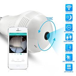 Full HD 1080P Light Bulb Camera 360°Panoramic WiFi Camera T