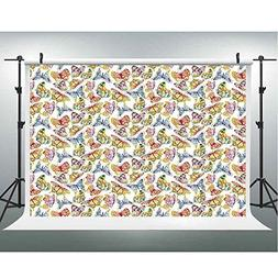 Photo Studio,Butterfly,Muslin Collapsible Backdrop Backgroun