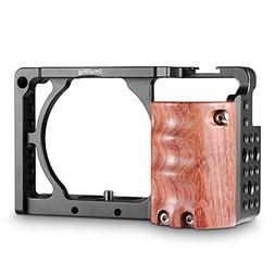 SMALLRIG Camera A6300 Cage for Sony A6000 / A6300 with Woode