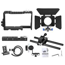 Andoer Pro Video Cage Rig Kit Film Making System with 15mm R