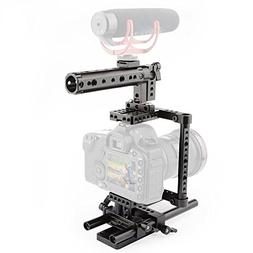CAMVATE Camera Cage Rig Top Handle Tripod Mount Plate for Ca