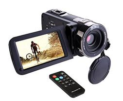 Hausbell Camcorder 302S Remote Control Camcorder, FHD Infrar