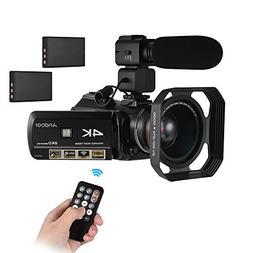 Video Camera Camcorder,Andoer 4K UHD 24MP DV Recorder 30X Zo