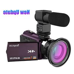 4K Video Camcorder, Rraycom 48MP WiFi Camcorders Ultra-HD Po