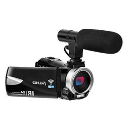Camcorder with Microphone FHD 1080P 30 FPS 24.0 MP Video Cam