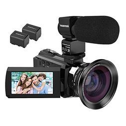 4K Camcorder Video Camera,Kenuo WiFi Digital Camcorder Ultra