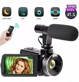 Camcorder Video Camera, 2.7K Vlogging Camera for YouTube WiF