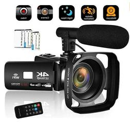 Camcorder Video Camera 4K 30MP WiFi Night Vision Camcorder V