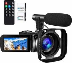 Camcorder Video Camera,Ultra HD 2.7K Vlogging Camera 30 FPS