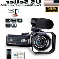 Camcorder Video Camera Ultra HD 4K 48MP Camcorder Camera wit