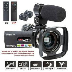 Camcorder Video Camera YEEHAO WiFi HD 1080P 24MP 16X Powerfu
