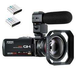 Camcorder Video Camera ORDRO Z20 FHD 1080P 30FPS Vlogging Ca