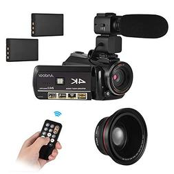 4k Camcorder WiFi Camera,Andoer UHD 24MP Digital Video Camer