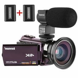 Video Camera Camcorder 4K,Kenuo HD 60FPS Digital WiFi Camera