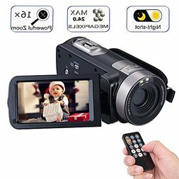 Digital Video Camera Camcorders With IR Night Vision, WEILIA