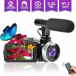 Camcorders Video Camera, Vlogging Camera for YouTube 2.7K Fu