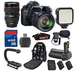 Canon 6D DSLR Camera with 24-105mm L IS USM + 64GB Memory Ca