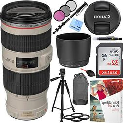 Canon EF 70-200mm f/4L IS USM Lens with Sandisk 32GB SDHC Me