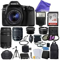 Canon EOS 80D DSLR Camera Body + Canon EF-S 18-55mm IS STM &