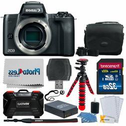 Canon EOS M50 24.1MP Mirrorless Digital Camera Body – 4K &