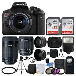 Canon EOS Rebel T6i DSLR Camera + EF-S 18-55mm IS STM Lens &