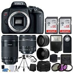 Canon EOS Rebel T7i Digital SLR Camera + EF-S 18-55mm is STM