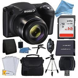Canon PowerShot SX420 20 MP Digital Camera  + 64GB SDHC Memo